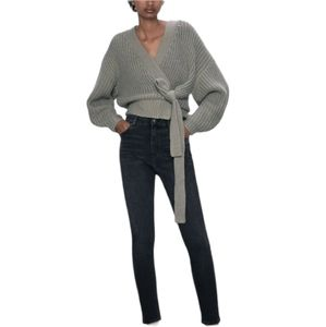 Zara Black High Waisted Skinny Jeans 6